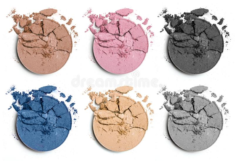 Crushed eye shadow for make up stock photos