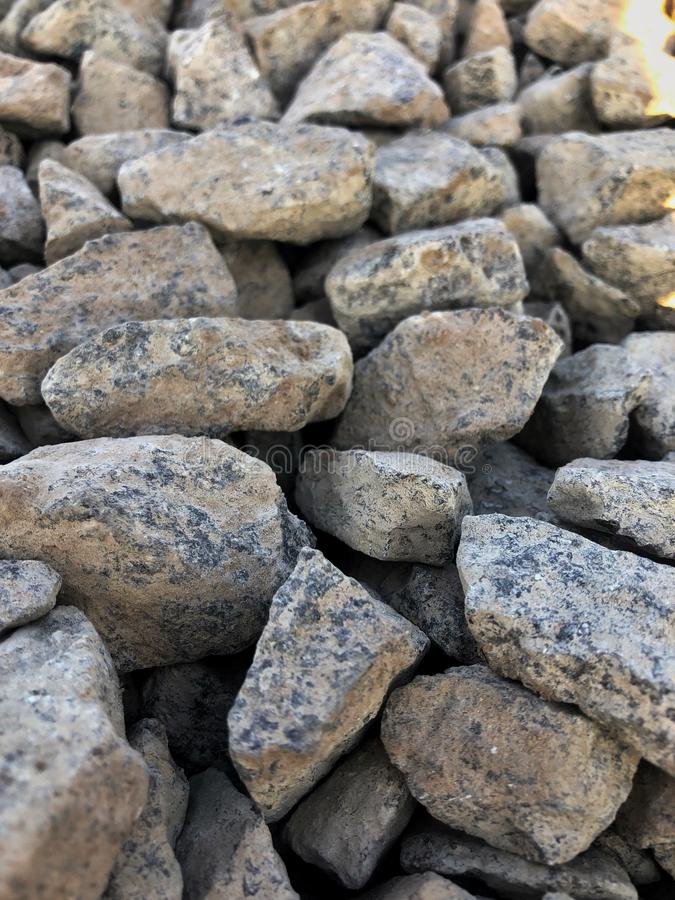 Crushed gravel texture, background. Hard, material, natural, rough, gray, nature, rock, small, stone, backdrop, closeup, construction, pattern, pebble, surface stock photo