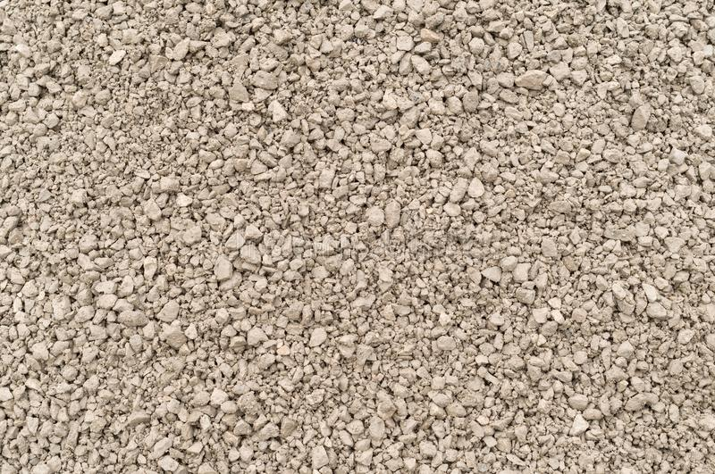 Crushed gravel texture. For construction works royalty free stock images