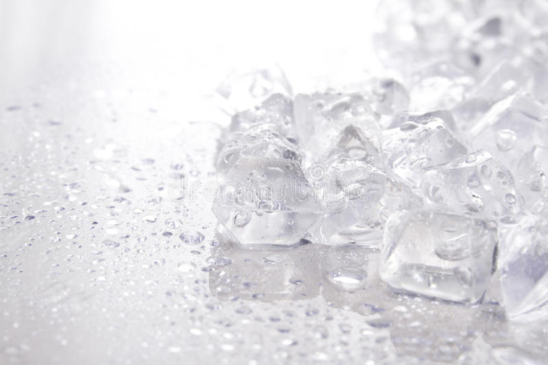 Crushed ice. Close up of crushed ice with drops of water stock photo