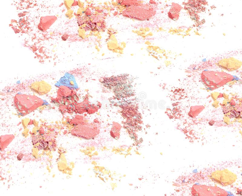 Crushed make up powder background royalty free stock image
