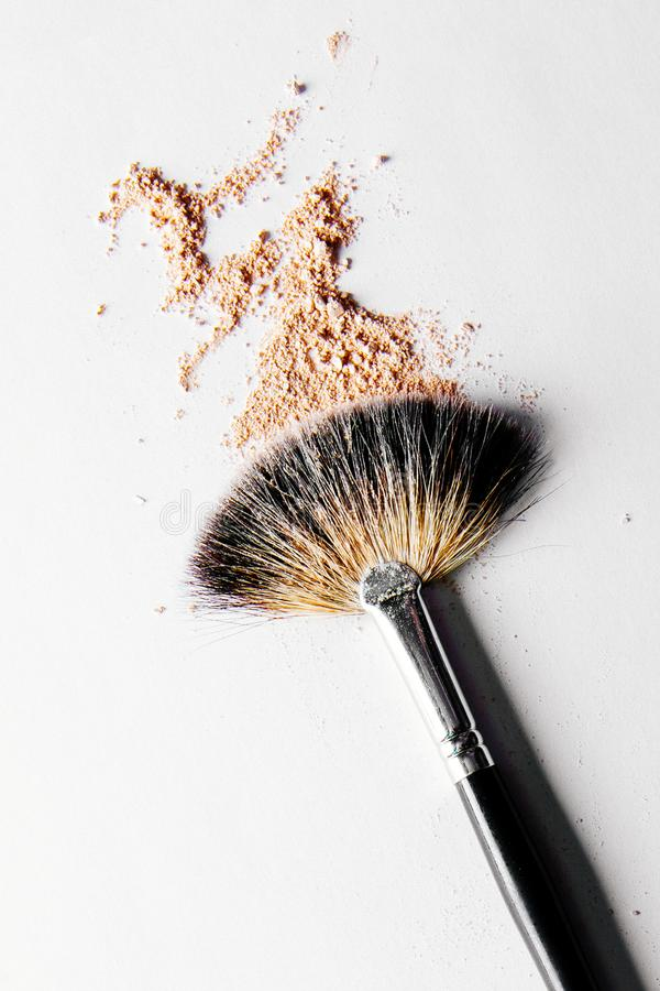 Crushed make-up products - beauty and cosmetics styled concept. Elegant visuals royalty free stock photo