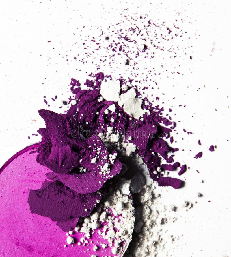 Crushed make-up products - beauty and cosmetics styled concept. Elegant visuals stock photo