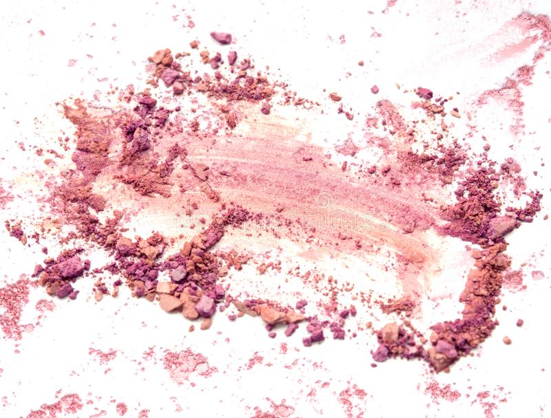 Crushed mix color eye shadow. Pink and purple stock image