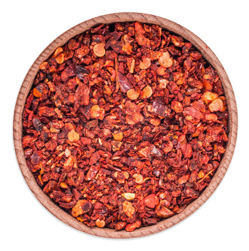 Crushed red chili pepper royalty free stock photography