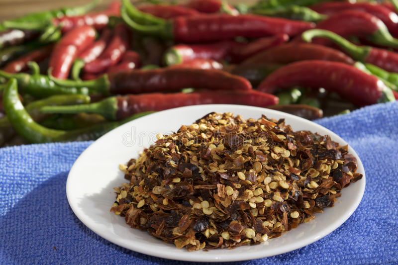 Crushed red pepper stock photography