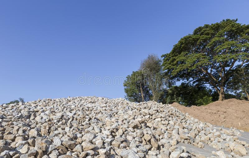 Pile Of Granite Rock ,Small Stone Group Stock Image - Image