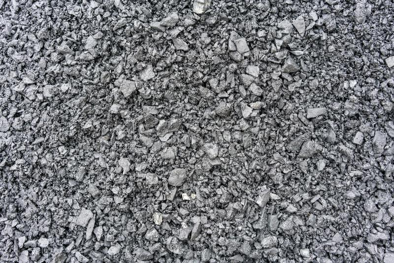 Crushed stone and gravel as background or texture stock images