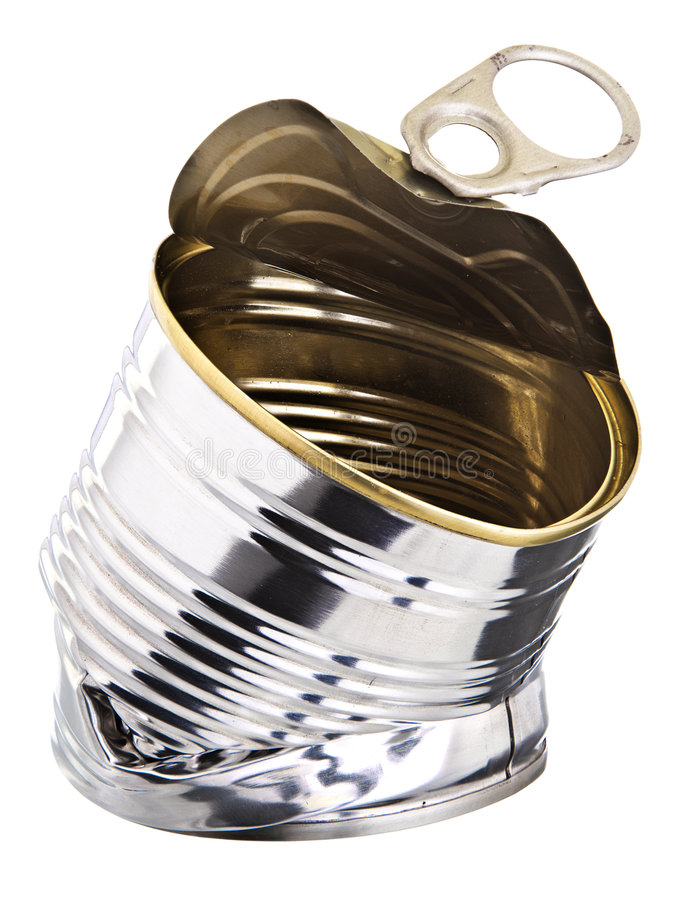 Crushed Tin Can Small