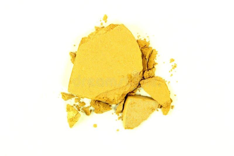 Crushed Yellow Eyeshadow stock photo