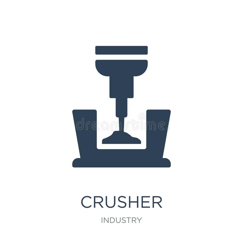 crusher icon in trendy design style. crusher icon isolated on white background. crusher vector icon simple and modern flat symbol vector illustration