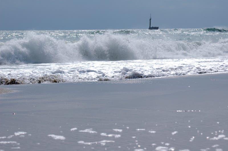 Crushing waves royalty free stock photo