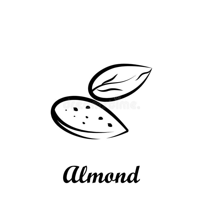 Crustaceans, плод, значок миндалины Элемент значка Crustaceans Значок руки вычерченный для дизайна вебсайта и развития, развития  бесплатная иллюстрация