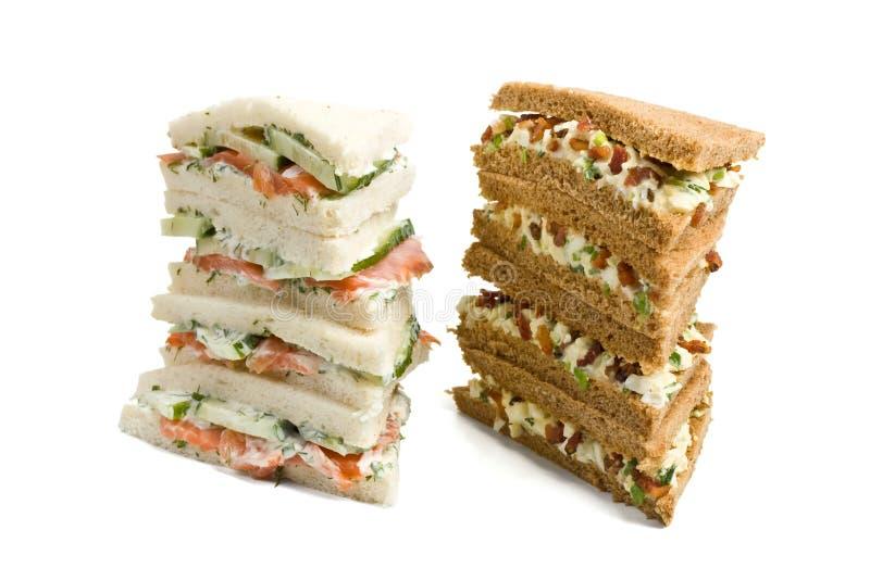 Crustless Club Sandwiches stock photography