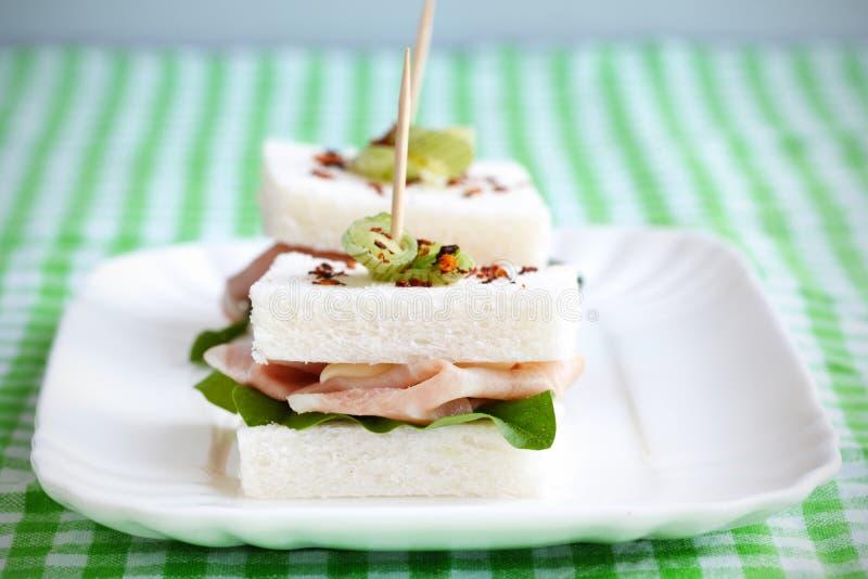 crustless mortadella ψωμιού σάντουιτς στοκ φωτογραφία