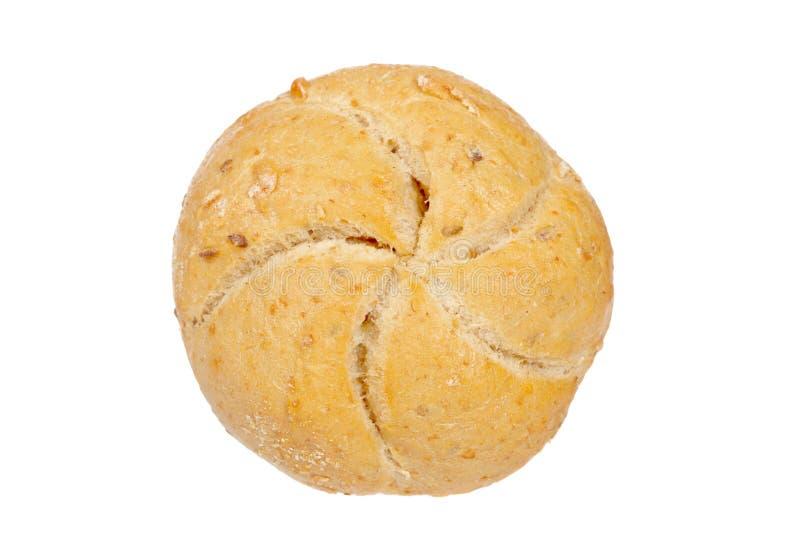 Crusty bread bun royalty free stock photo