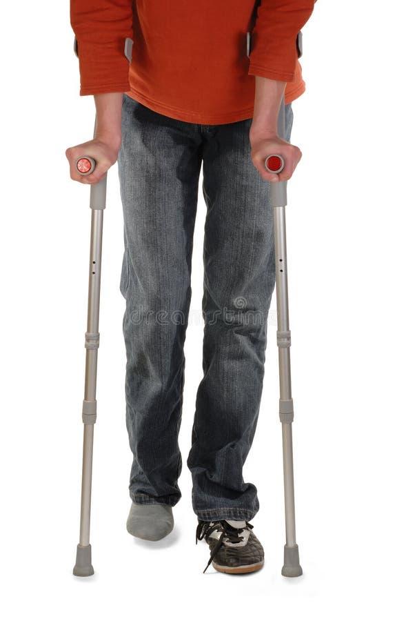 crutches персона стоковое фото