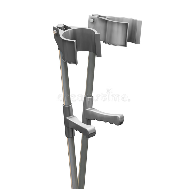 Download Crutches stock illustration. Image of physiotherapy, object - 1154761