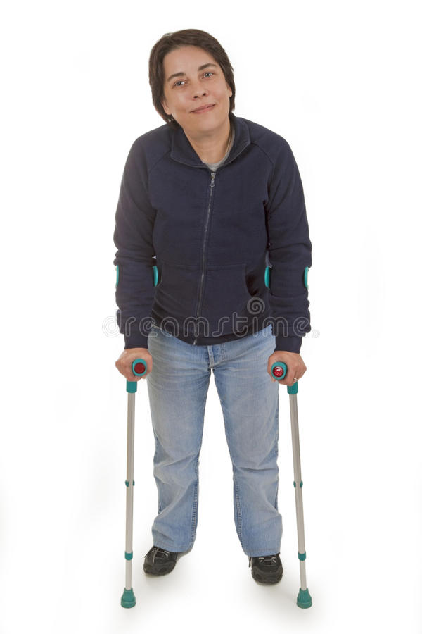 Free Crutches Royalty Free Stock Photography - 15035067