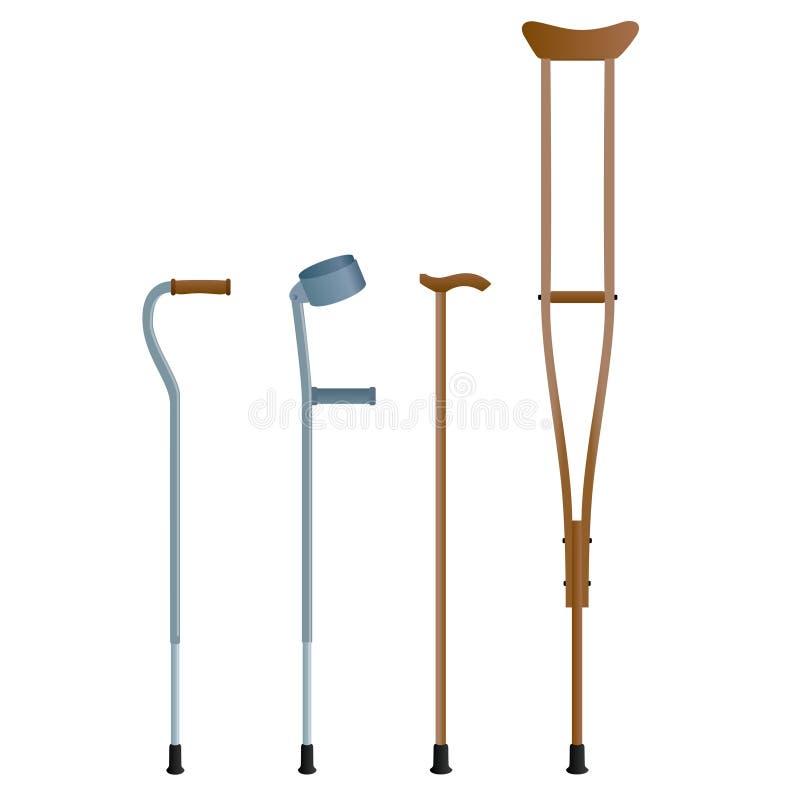Crutches vector illustration