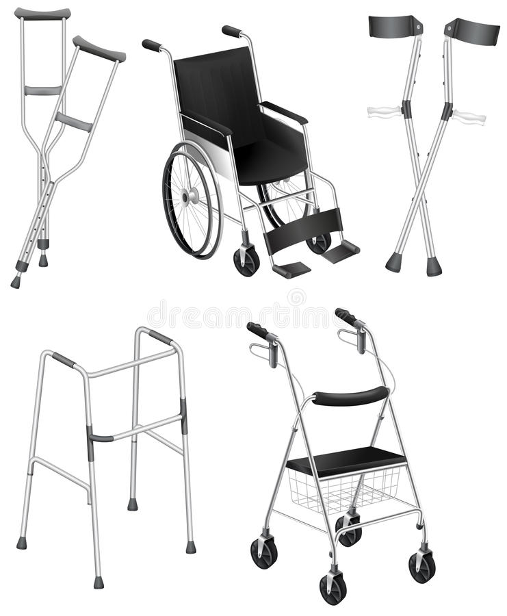 Free Crutches And Wheelchairs Stock Photo - 34202960