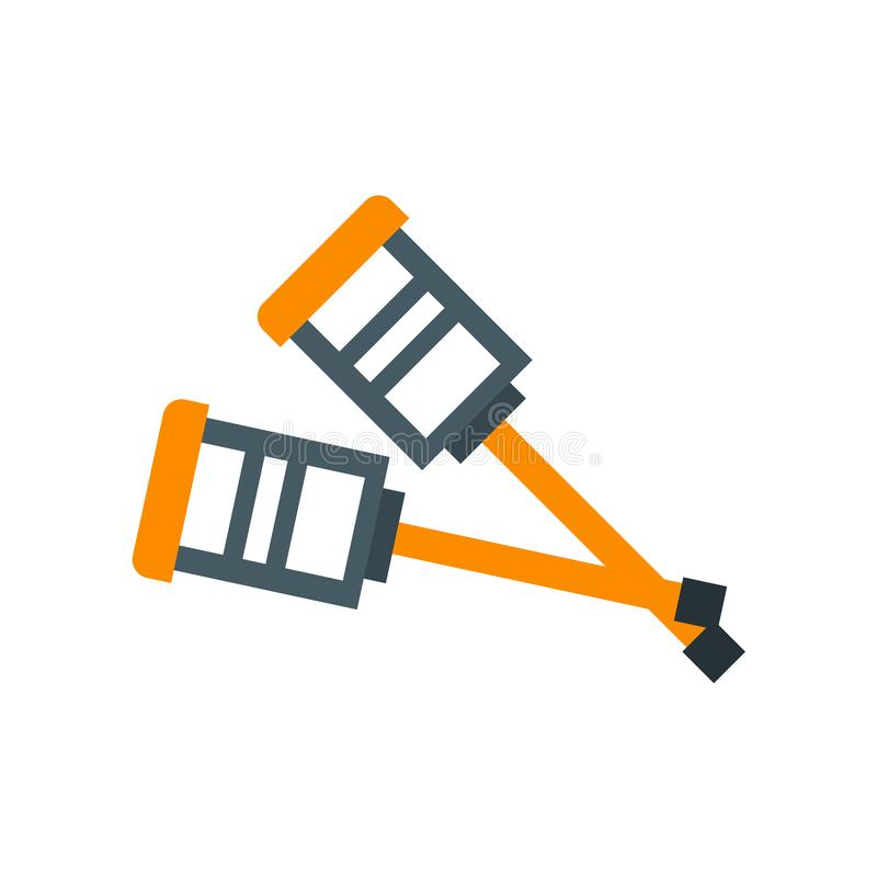 Crutches icon vector sign and symbol isolated on white background, Crutches logo concept vector illustration