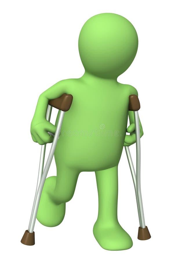 crutches pippet иллюстрация штока
