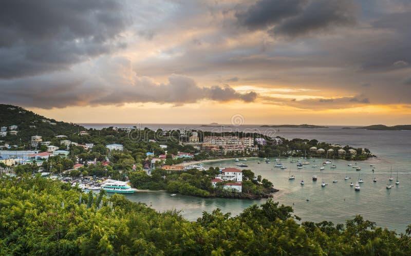 Cruz海湾,圣约翰 库存照片