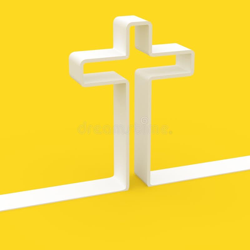 cruz 3d stock de ilustración