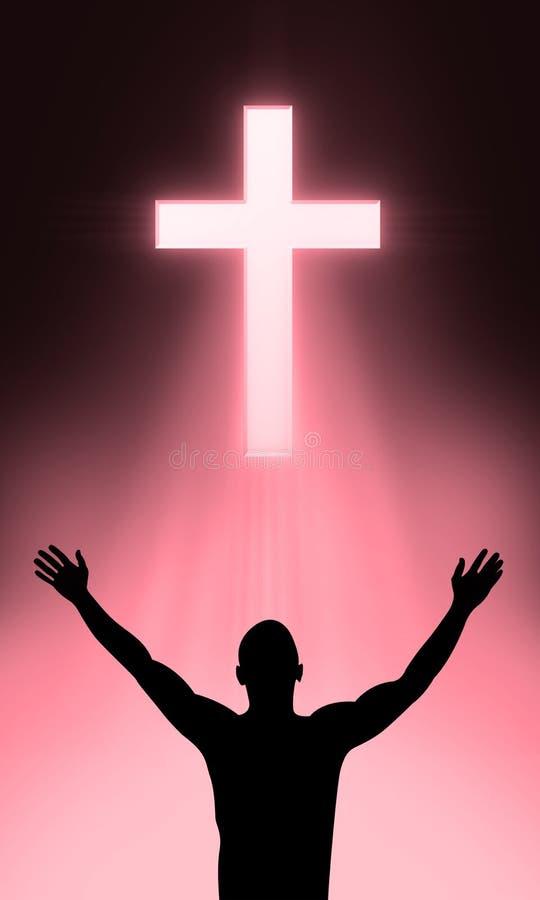 A cruz ilustração stock