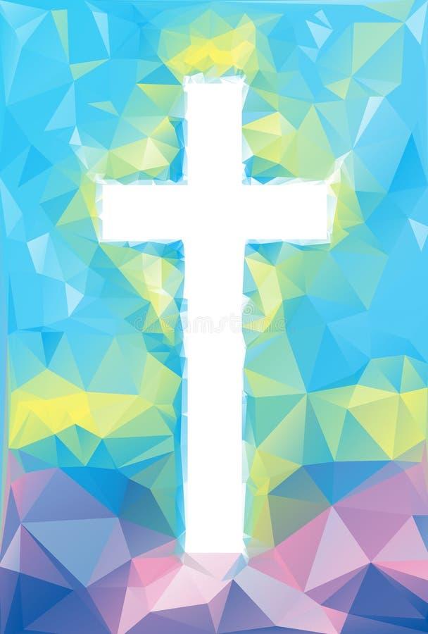 Cruz abstracta colorida libre illustration