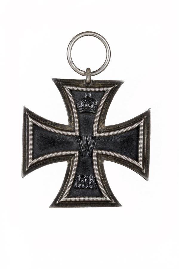 Cruz alemão do ferro WW1 foto de stock