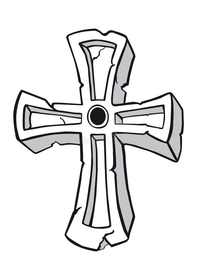 Cruz antiga ilustração stock