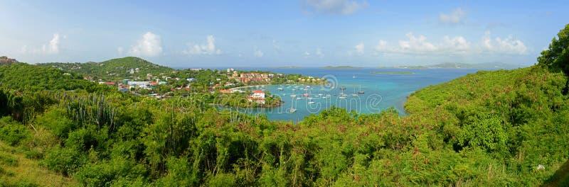 Cruz Bay, Heilige John Island, de Maagdelijke Eilanden van de V.S. royalty-vrije stock afbeelding