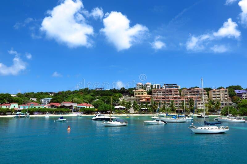 Cruz Bay, St. John, US Virgin Islands. Before Hurricane Irma royalty free stock images