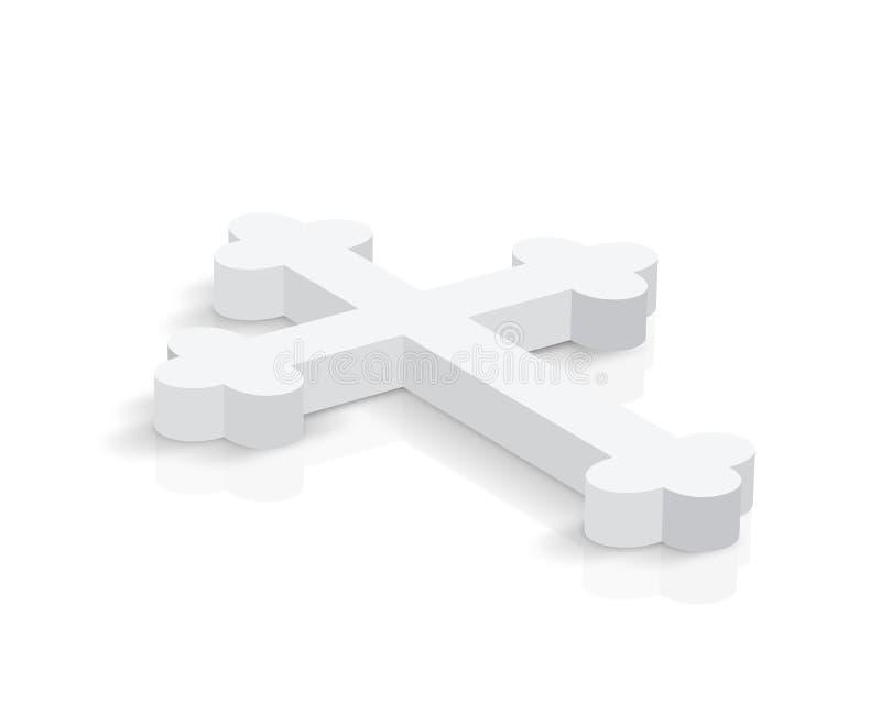 Cruz branca ilustração do vetor
