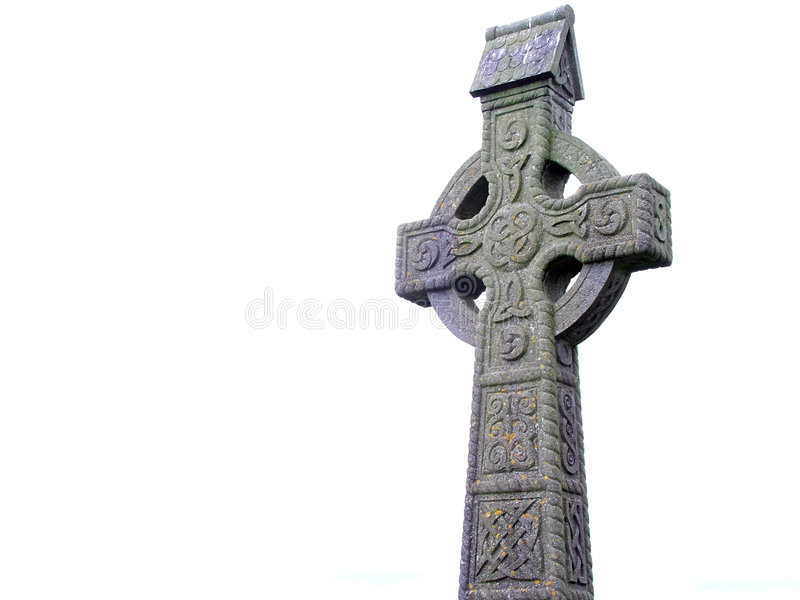 Cruz céltica fotografía de archivo