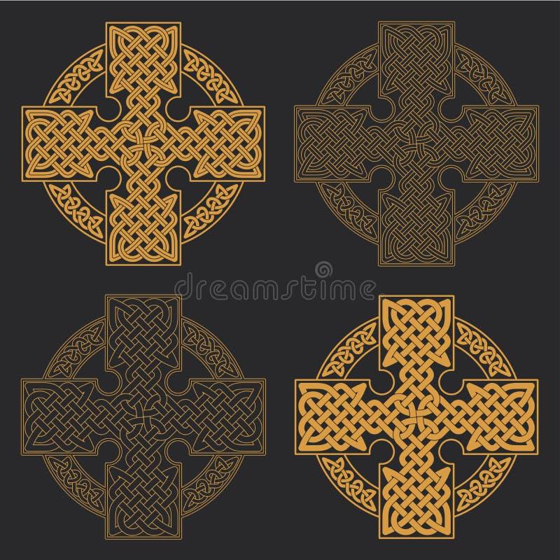 Cruz céltica del vector RRPP étnicas de la camiseta del diseño geométrico del ornamento libre illustration