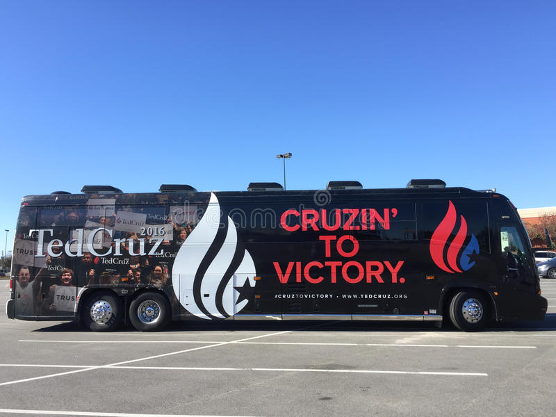 The Cruz Campaign arrives in Charleston, SC. royalty free stock images