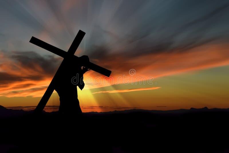 Cruz carreg do Jesus Cristo imagem de stock royalty free