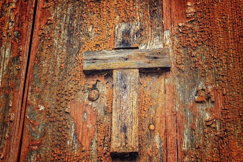 Cruz católica de madeira imagem de stock royalty free