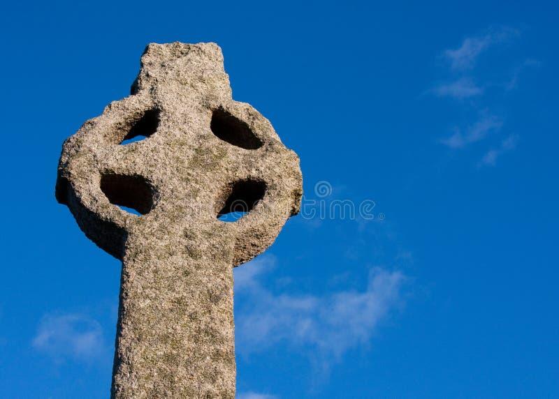 Cruz celta antiga foto de stock