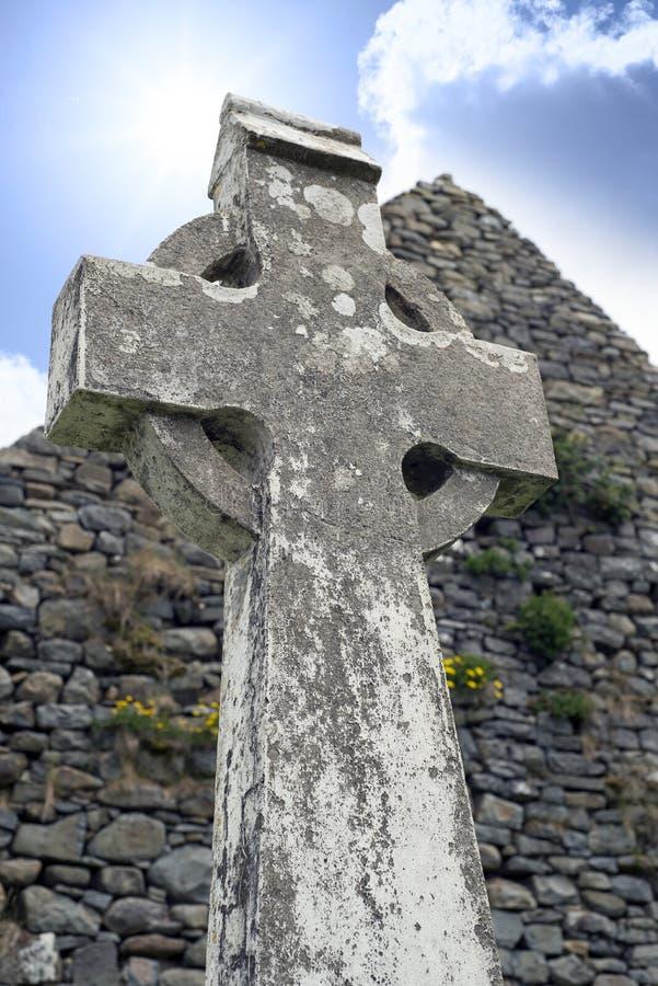 Cruz celta do Kerry velho foto de stock royalty free