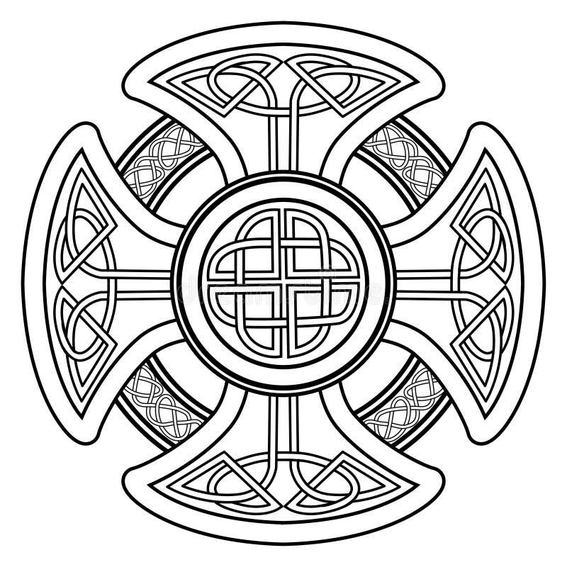 Cruz celta do vetor ilustração stock