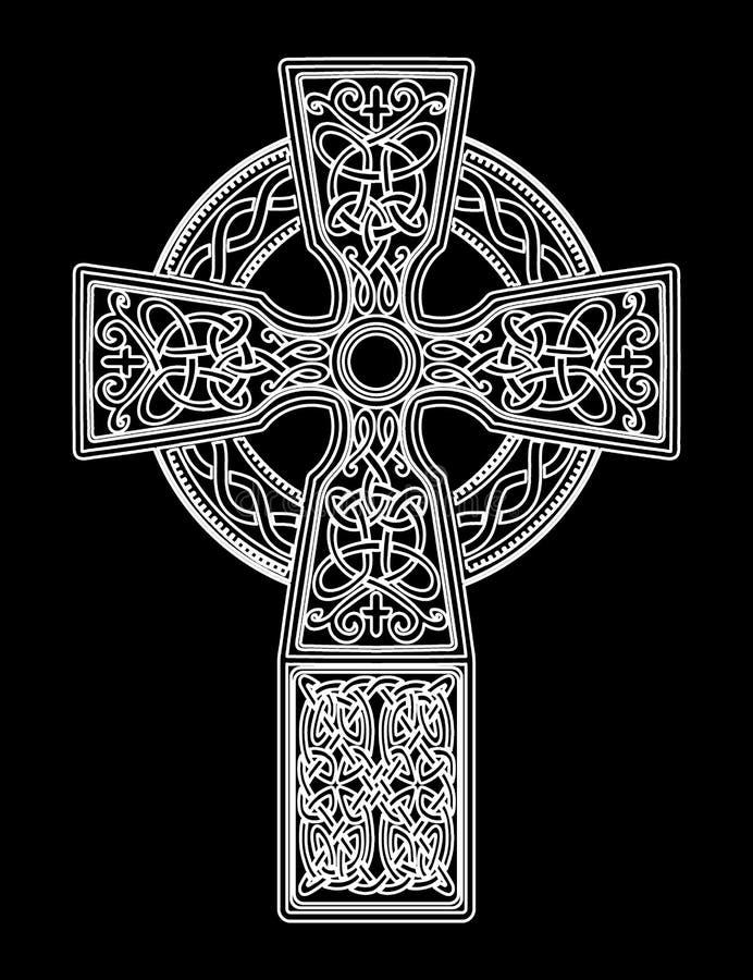 Cruz celta do vetor ilustração royalty free