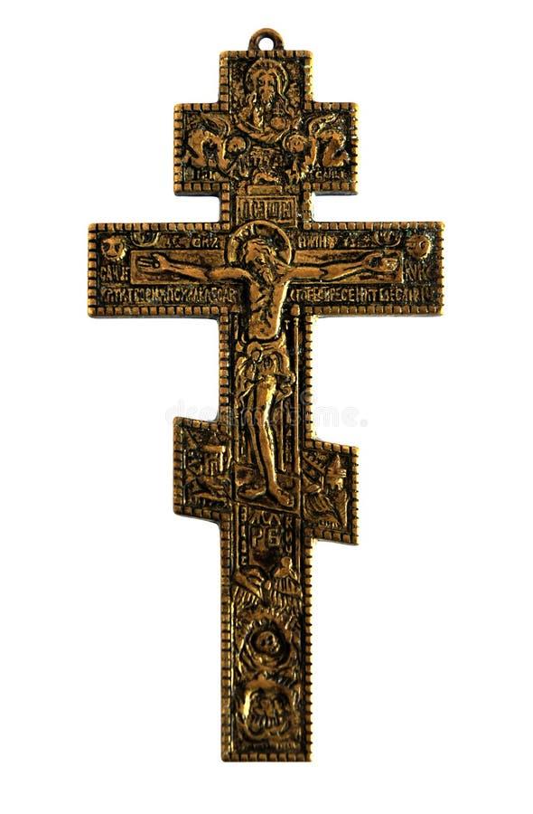 Cruz con Jesucristo crucificado imagen de archivo libre de regalías