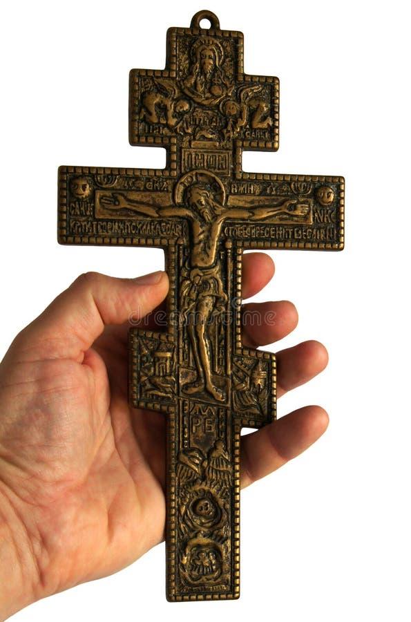 Cruz con Jesucristo crucificado imágenes de archivo libres de regalías
