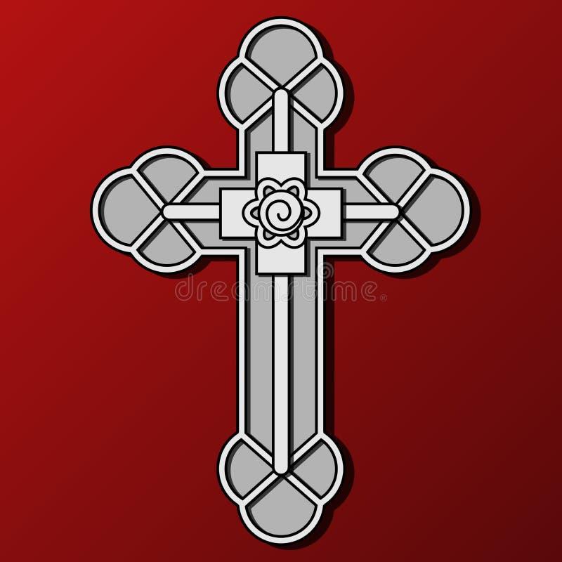Cruz cristã ilustração royalty free