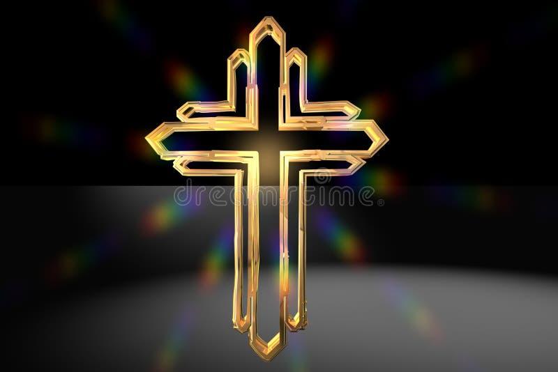 Cruz cristã fotografia de stock