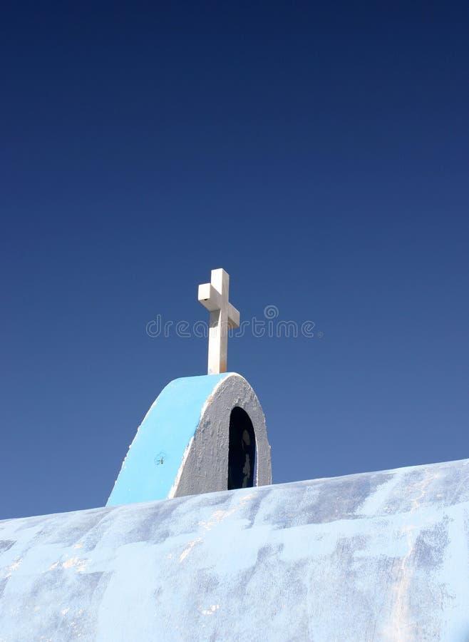 Cruz cristã da capela foto de stock royalty free